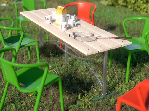 Table for summerhouse