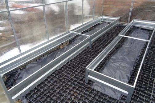 Galvanized steel edging beds